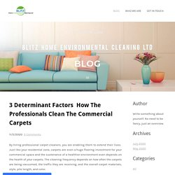3 Determinant Factors How The Professionals Clean The Commercial Carpets