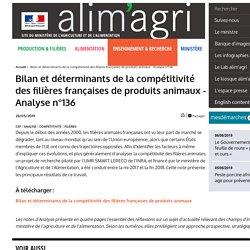 MAA CEP 28/05/19 Bilan et déterminants de la compétitivité des filières françaises de produits animaux - Analyse n°136