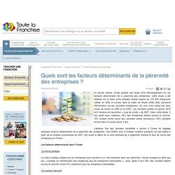 Quels sont les facteurs déterminants de la pérennité des entreprises ?