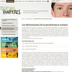 Les déterminants de la persévérance scolaire - Le décrochage - COMPERES