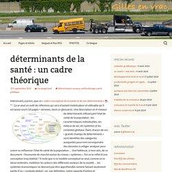 déterminants de la santé : un cadre théorique