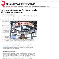 Isolement et sanctions n'entament pas la détermination des Russes
