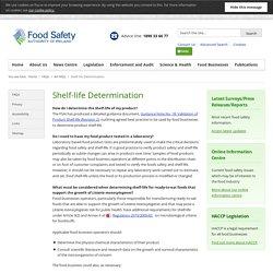 FSAI 03/12/14 Shelf-life Determination