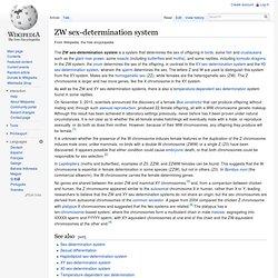 Zw Sex Determination System 14