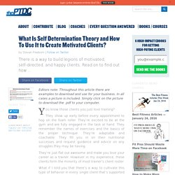 What Is Self Determination Theory?