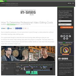 How To Determine Professional Video Editing Costs