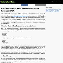 How to Determine Social Media Goals for Your Business in 2020?