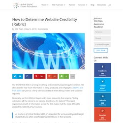 How to Determine Website Credibility [Rubric]
