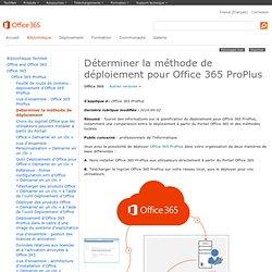 Options de déploiement pour Office365 ProPlus