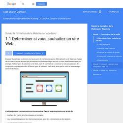 1.1 Déterminer si vous souhaitez un site Web - Centre d'aide Outilspourleswebmasters
