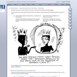 Grimm Grammar : possessive determiners accusative : Possessivpronomen Als Artikel - Akkusativ