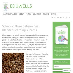 School culture determines blended-learning success – EDUWELLS