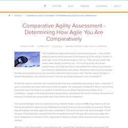 Determining How Agile You Are Comparatively