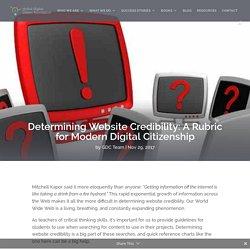 Determining Website Credibility: A Rubric for Modern Digital Citizenship