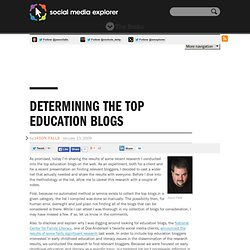 The Top Education Blogs