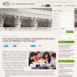 Factors Determining the Academic Transcription Cost