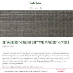 Determining the Use of Grey Wallpaper on the Walls