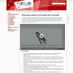 Détourage rapide d'une image dans Inkscape