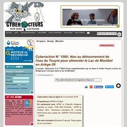 Non au détournement de l'eau du Touyre pour alimenter le Lac de Montbel en Ariège 09 cyberaction