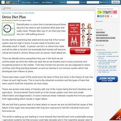 Detox Diet Plan by Oneorganic Health