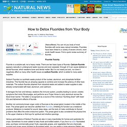 How to Detox Fluorides from Your Body