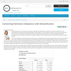Correcting Hormone Imbalance with Detoxification