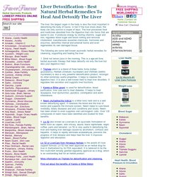 Liver Detoxification - Best Natural Herbal Remedies To Heal And Detoxify The Liver