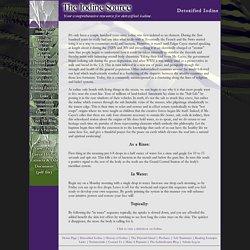 Detoxified Iodine - Iodine Source - Your resource for detoxified iodine.