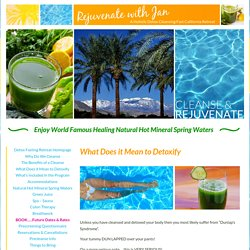 Rejuvenate with Jan Palm Springs CA