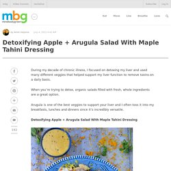 Detoxifying Apple + Arugula Salad With Maple Tahini Dressing - mindbodygreen.com