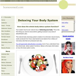 Detoxing Your Body Naturally