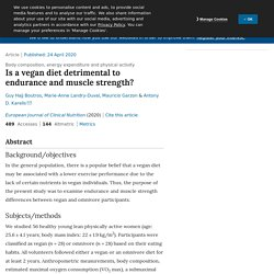 Is a vegan diet detrimental to endurance and muscle strength?