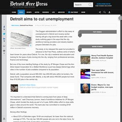 Detroit aims to cut unemployment