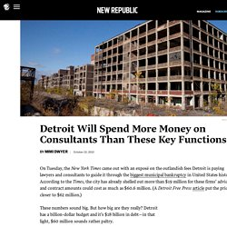 How Detroit's bankruptcy stacks up against its budget
