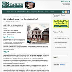 Detroit's Bankruptcy: How Does It Affect You? - Stailey Insurance
