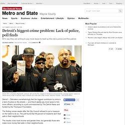 Detroit's biggest crime problem: Lack of police, poll finds