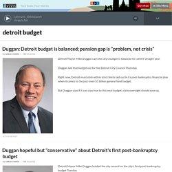 detroit budget