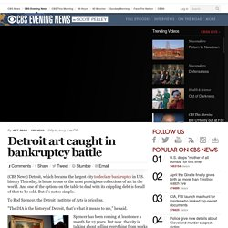 Detroit art caught in bankruptcy battle