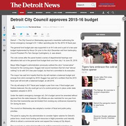 Detroit City Council approves 2015-16 budget