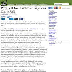 Why Is Detroit the Most Dangerous City in US? - General Motors (NYSE:GM)