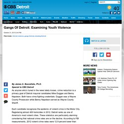 Gangs Of Detroit: Examining Youth Violence