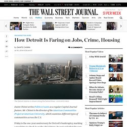 How Detroit Is Faring on Jobs, Crime, Housing