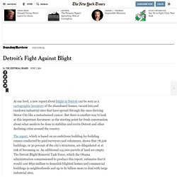 Detroit's Fight Against Blight