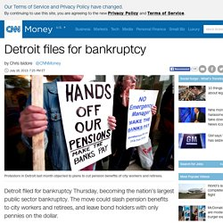 Detroit files for bankruptcy - Jul. 18, 2013