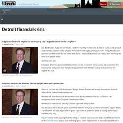 Detroit financial crisis