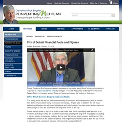 Snyder - City of Detroit Financial Facts and Figures