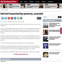 Detroit haunted by poverty, scandal