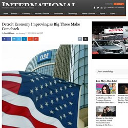 Detroit Economy Improving as Big Three Make Comeback