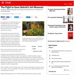 Detroit Institute of Arts Deal Could Save Bankruptcy Auction