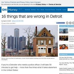Detroit is going dark - Jul. 19, 2013